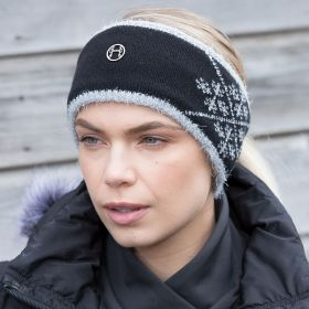 Equetech Crystal Knit Headband - Black/Grey