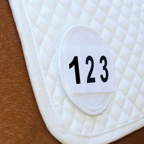 Equetech Saddle Cloth Number Holder Pair - White