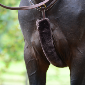 Kentucky Sheepskin Breastplate Cover - Brown - Kentucky Horsewear