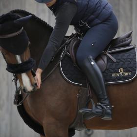 Kentucky Sheepskin Noseband Cover Black - Kentucky Horsewear