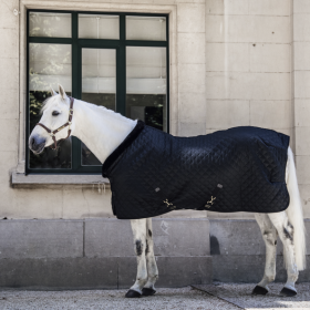 Kentucky Show Rug - Black with Black Fur Collar