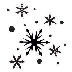 Glamourati Snowflakes Medium Stencil 2 Pack