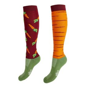 Elico Riding Socks - Carrot - Elico