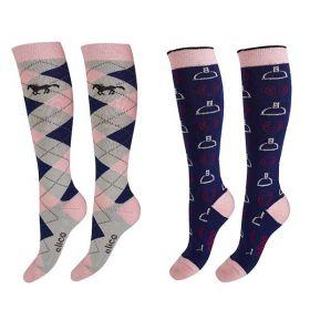 Elico Milan Ladies Socks Twin pack - Elico