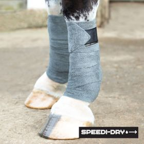 Equetech Speedi-Dry Bandages - Grey