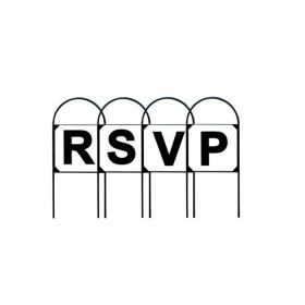 Stubbs Tread In Markers letters RSVP