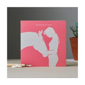 Deckled Edge Colour Block Pony Card - Thinking of You