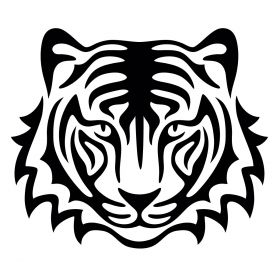 Glamourati Tiger Medium Stencil 2 Pack - Glamourati