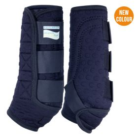 Equilibrium Stretch and Flex Training Leg Wraps French Navy