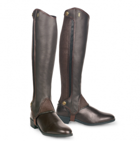 Tredstep Deluxe Half Chaps - Brown - 44cm H/33cm W (17in H/13in W) Clearance - Tredstep Ireland
