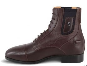 Tredstep Medici Front Lace Back Zip Short Boot Brown