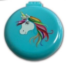 Equetech Unicorn Compact Hairbrush Mirror Blue