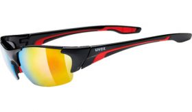 Uvex Blaze III Eyewear Black - Red