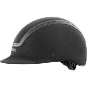 Uvex Suxxeed Velours Riding Hat - Black - 54-55cm - XS-S - Clearance