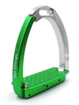 Tech Stirrups Venice Young Green - Silver