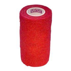 Vetset Wraptec Cohesive Bandage 100mm x 4.5m Red