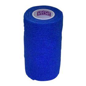 Vetset Wraptec Cohesive Bandage 100mm x 4.5m Blue