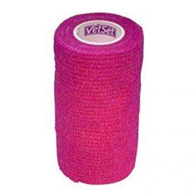 Vetset Wraptec Cohesive Bandage 100mm x 4.5m Pink