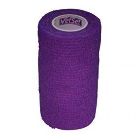 Vetset Wraptec Cohesive Bandage 100mm x 4.5m Purple