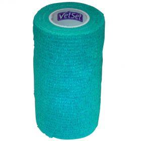 Vetset Wraptec Cohesive Bandage 100mm x 4.5m Teal