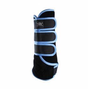 Woof Wear Dressage Wrap Colour Fusion - WB0061 Black - Powder Blue