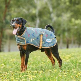 WeatherBeeta Comfitec Premier Free Parka Dog Coat Medium - Green Pheasant Print