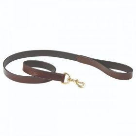 Weatherbeeta Padded Leather Dog Lead Brown