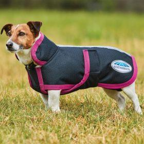 WeatherBeeta Parka 1200D Deluxe Dog Coat  Black/Boysenberry