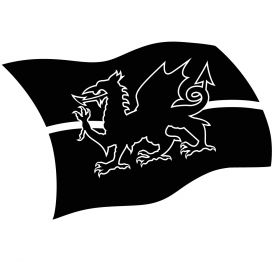 Glamourati Flag Welsh Stencil  Medium Stencil 2 Pack - Glamourati