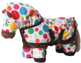 Crafty Ponies Snuggle rug set and instruction booklet White Multi Spotty