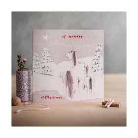 Deckled Edge Christmas Card Wonder of Christmas