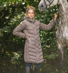 Coldstream Kimmerston Long Quilted Coat - Taupe