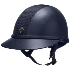 Charles Owen SP8 Plus Leather Look Riding Hat