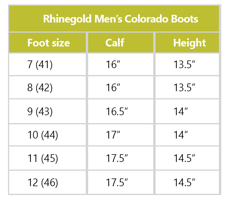 Rhinegold Mens Elite Colorado Boot